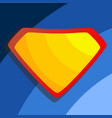 superhero logo yellow red shield emblem vector image vector image