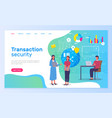 transaction security people working in bank new vector image vector image