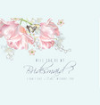 tulip butterfly bridesmaid vector image