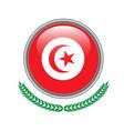 tunisia flag button tunisia flag icon of tunisia vector image