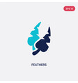 two color feathers icon from brazilia concept vector image vector image