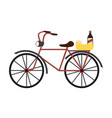 vintage bike with wine and cheese vector image vector image