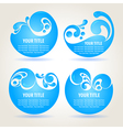 Water design backgrounds vector image vector image