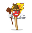 witch match stick mascot cartoon vector image vector image