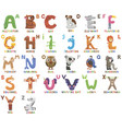zoo alphabet animal alphabet letters from a to z vector image vector image