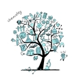 Chemistry tree concept for your design vector image