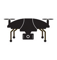 drone icon flat design style drone on white vector image