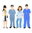 group of doctors in a hospital flat design vector image