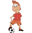 a soccer player cartoon vector image