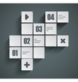 Cubes background vector image