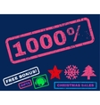 1000 Percent Rubber Stamp vector image