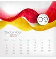 2015 Calendar September vector image vector image