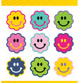 a set face faces smiles avatar icons vector image vector image