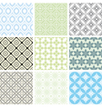 abstract seamless ornament patterns vector image vector image