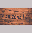 arizona map brand vector image vector image