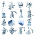 artificial intelligence isometric set vector image