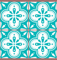 azulejo tiles seamless blue pattern vector image