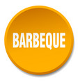 barbeque orange round flat isolated push button vector image vector image