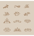 Beautiful white vintage decorative elements and vector image vector image