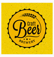 beer cap brewery logo craft beer vintage vector image vector image