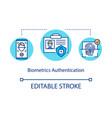 biometrics authentication concept icon