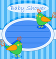Bird baby shower invitation-boy vector image vector image