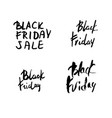 black friday text with decoration vector image vector image