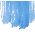 blue abstract watercolor background with space vector image vector image