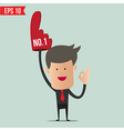 Business man show number one - - EPS10 vector image vector image