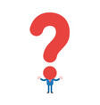 businessman character with question mark head vector image