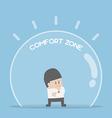 Businessman standing in comfort zone vector image