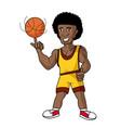 cartoon basketball player vector image vector image