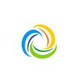 circle swirl colorful motion logo vector image vector image
