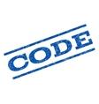 Code Watermark Stamp vector image vector image
