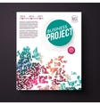 Colorful business project design template vector image