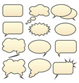 comic bubbles vector image vector image