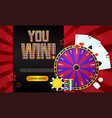 concept casino and gambling vector image