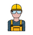 construction worker icon vector image vector image