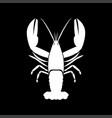 craw fish white color icon vector image
