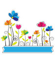 cute flower vector image