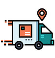 delivery service linecolor vector image vector image