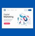 digital marketing isometric concept vector image vector image