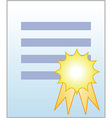 Document with certificate vector image vector image