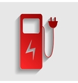 Electric car charging station sign vector image vector image