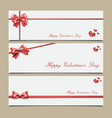envelopes with red ribbon templates vector image vector image