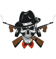 Gangster Skull mafia vector image vector image