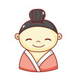 geisha cartoon character traditional culture vector image