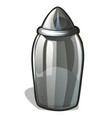 glass or transparent clear plastic jar to store vector image vector image
