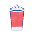 grated delicious fresh soda plastic cup vector image vector image