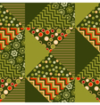 green color abstract background in patchwork style vector image vector image